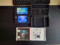 Nintendo 3DS XL Red & Black With Pokemon Moon + Resident Evil Revelations + Case