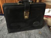 Leather brief case with key, good condition, bought from vintage store