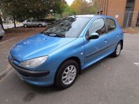 PEUGEOT 206 LX HDI WITH FULL SERVICE