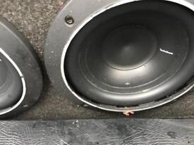 "2x 8"" rockford fosgate subwoofer svc 400w tuned custom box 40htz"