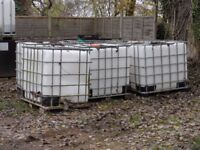 Plastic containers with tap, ex resin .Good for water tanks.