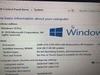 HP PC With Windows 10 - AM A10 Quad Core APU