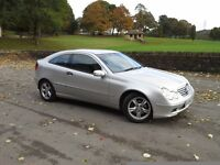 Mercedes C180 Kompressor Special Edition Coupe ★Bright Silver ★ LONG MOT ★ FULL SERVICE HISTORY ★