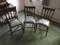 3 x pretty country chairs