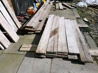 Used scaffold boards/ shelving planters or sheds