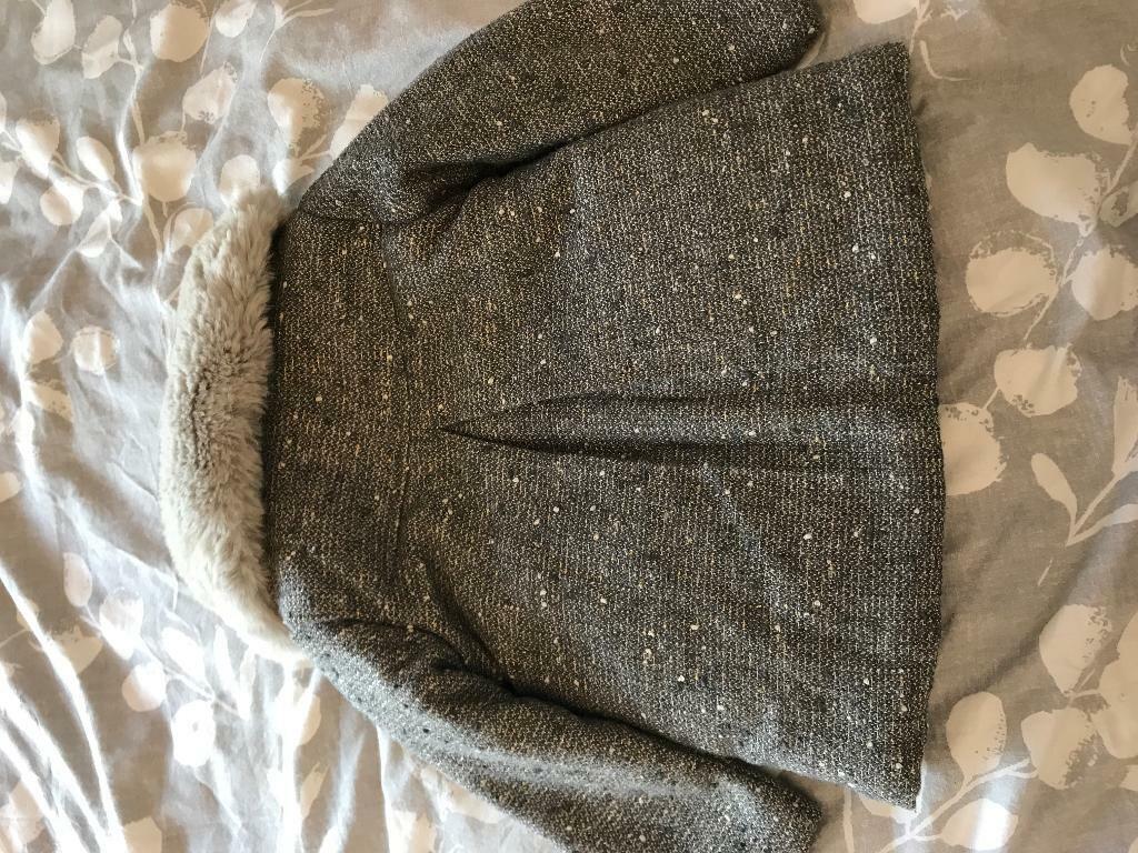 273e8f5af Baby girls tweed   fur coat