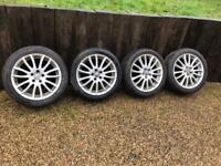 Volvo Spartacus Alloy Wheels with Tyres V50 S40 C30 C70 17 inch 5x108 17""