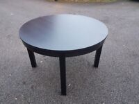 Ikea Round Black Extending Table FREE DELIVERY 554