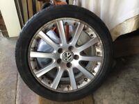 Four VW Golf Alloy Rims and Tyres 225x45xZR17