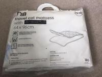 Travel cot mattress