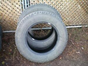 2 Goodyear Wrangler SR-A Tires * P265 65R18 112T * $50.00 for 2 .  M+S / All Season Tires ( used tires )