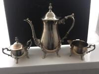 Stunning silver plate teaset