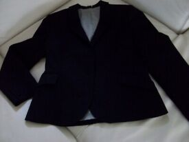 Barely used Ladies Black fine wool skirt suit, Next, 10-12, excellent condition