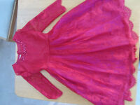Beauitiful Red Lace dress from Monsoon Age 13 - Excellent Condition. Perfect for Christmas Parties