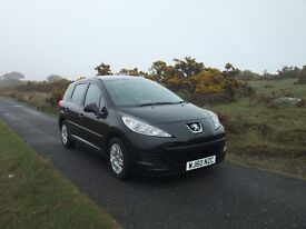 Peugeot 207SW; MOT until 27 Sep 17; averages 50 mpg; great run-around/daily commute/small family car
