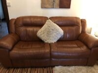 Leather Sofa's, plus matching electric Chair
