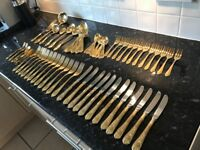 Gold-Plated Cutlery Set.