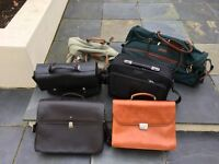 Selection of (some leather) Briefcases and Travel Bags