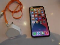 apple iphone x 64gb space grey unlocked damage back and front face id not working