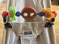 Babybjorn baby bouncer + toy bar + second cover