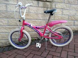 Girls bike - age 8-10 years - Pink - Ammaco Sweetie