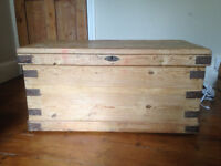 Old Pine Chest - Great as TV Stand