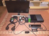 "Xbox One Full Gaming Set And 27"" Samsung gaming curved monitor."