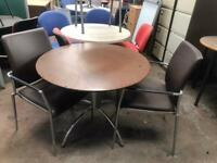 Brown Round Office Table
