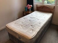 Single bed with orthopaedic mattress in good condition