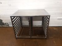 Stainless Steel table with racks for trays. 18 X 30 INCH baking tray bakery equipment