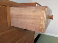 Retro Light Oak Chest of Drawers Good quality 1960s furniture Solid build with dovetailed drawers