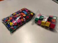 Plastic Counters + 20 Plastic Cubes (various colours) - New