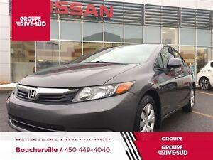 2012 Honda Civic LX (M5) AIR CLIMATISÉ-GARANTIE PROLONGÉE 7 ANS/