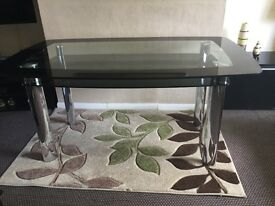 Glass 6 Seater Dining Table