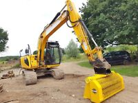 Excavator, Screening Bucket. Screening, Digger, Powerscreen, Soil, Rubble, Gyru-Star 4-150HE