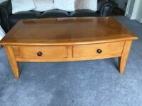 Large Well Made Solid Wood Coffee table with draws