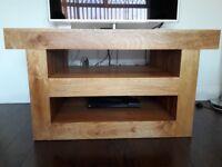 solid wood tv/dvd unit