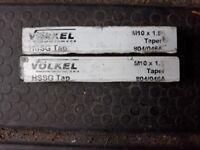 VOLKEL M10 x 1.5mm (10mm) SECOND TAPER HAND TAPS