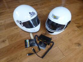Full Face Crash Helmets and Intercom