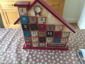 Next advent calendar wooden house