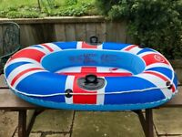 inflatable boat (pool toy)