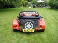 Robin Hood Kit Car -Lotus 7 lookalike- 2l Pinto petrol, Sierra base, re-wired, red & silver