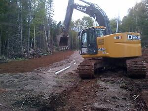 Excavator and bulldozers for hire, specializing in road building