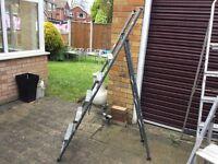 Large metal step ladders