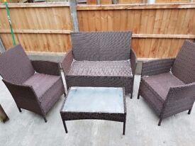 Rattan Garden Furniture - 4 Piece Set