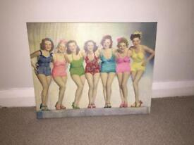 Vintage ladies canvas