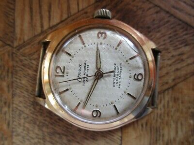 Vintage Gold plated ONSA Automatic Cal. Felsa 1560. For parts.