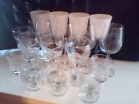 Assorted sets of glasses