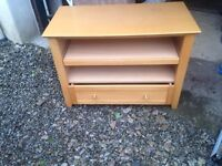 Beech tv and storage unit