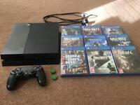 PS4 with 2TB Upgraded Hard-Drive, 9 Games and Controller(w/Kontrol Freeks)